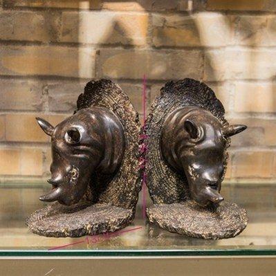 serre livre design decoration vintage retro Étagère à livres Rhinocéros africain