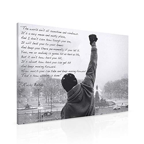 Rocky-Balboa-Leinwanddruck mit Zitat der Hoffnung, A1-Großformat, 76,2x 50,8cm