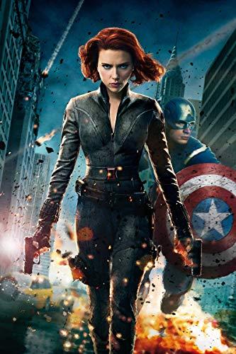 Poster The Avengers (2012) - Robert Downey Jr, Chris Evans, Scarlett Johansson, dimensioni 28 cm x 43 cm (280 mm x 430 mm) finitura satinata materiale regalo decorativo