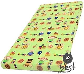 Barnmadrass, babymadrass 60 x 120 cm barnrullmadrass (grön)