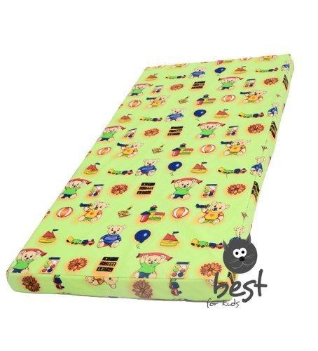 Kinderbettmatratze, Babymatratze 60x120 cm Kinder-Rollmatratze (Grün)