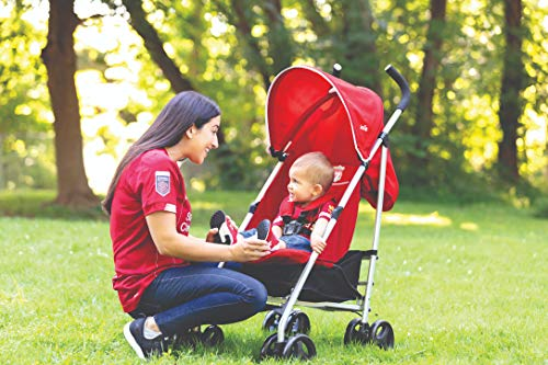 Joie Nitro LFC Umbrella Pushchair/Stroller, Red Crest Joie Sleek and lightweight umbrella chassis weighing just 7.52kg Suitable from birth with flat reclining seat SoftTouch, 5-point harness with shoulder covers 6
