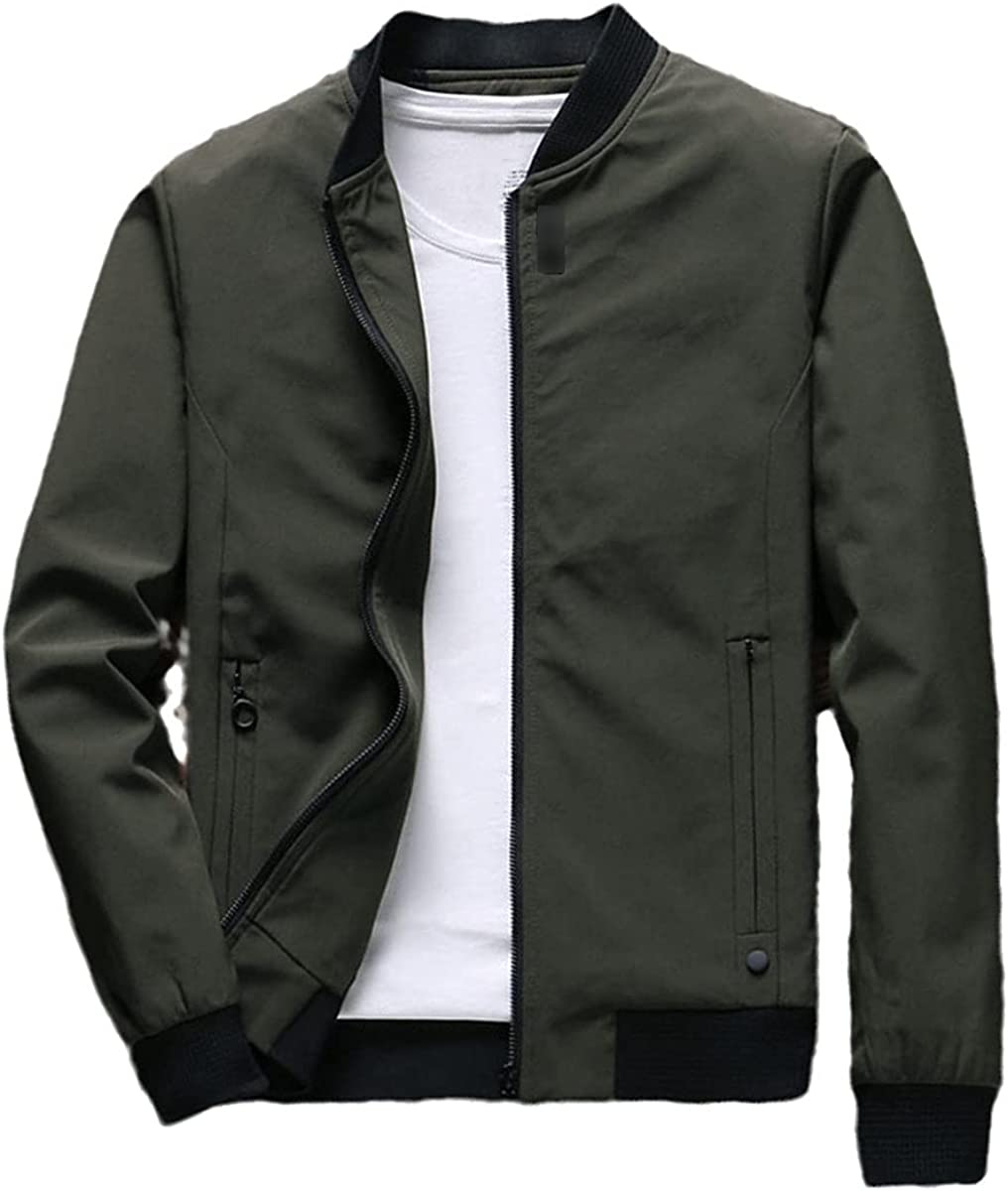 Men's Ranking TOP3 Jacket Limited time cheap sale Casual Zipper Thin Autumn Coat Spring