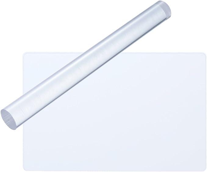 748 opinioni per ULTNICE- Kit per lavorazione argilla, con tavola acrilica rettangolare e rullo,