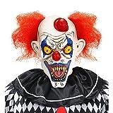 Maschera killer clown con capellie mini cappello Taglia unica Adulto