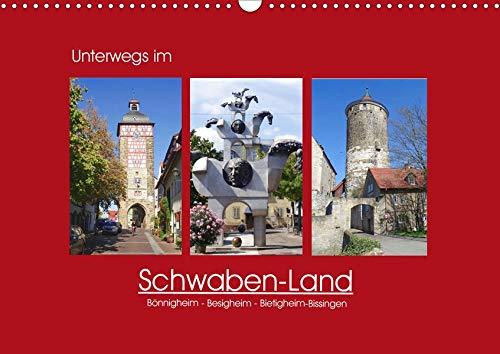 Unterwegs im Schwaben-Land (Wandkalender 2020 DIN A3 quer): Bönnigheim, Besigheim und Bietigheim-Bissingen (Monatskalender, 14 Seiten ) (CALVENDO Orte)