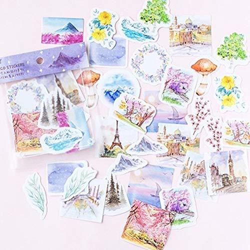 KATTERS Beautiful Natural Landscape Decorative Stickers Diy Craft Stick Label40 Pcs/Bag
