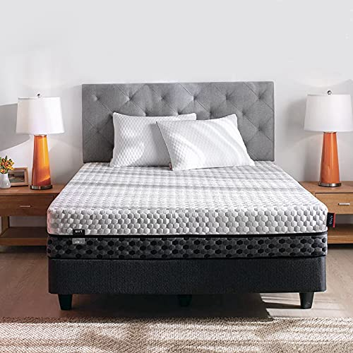 """Layla Sleep Copper Infused Memory Foam Queen Mattress, Made in The USA 