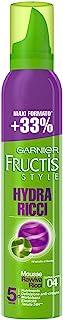Garnier Fructis Hydra Ricci Mousse Ravviva Ricci Fissaggio Extra Forte, 200 ml - [confezione da 6]