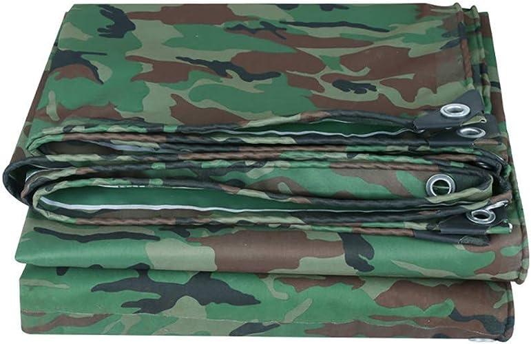 Bache imperméable Housse de Prougeection Camo Thick Couvre-remorque épaisse prougeège la Tente, Le Plancher, Le Bois de Chauffage ou Le Toit ZHAOFENGE (Couleur   vert, Taille   3x5m)