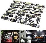 WE-WIN Ampoule Intérieure Voiture LED, 23Pcs Car LED Interior Lights Lamp Bulbs Kit Ampoules SMD Aans Erreur de Rechange Pour Voiture, l'intérieur, la plaque d'immatriculation,C5W T10 BA9S