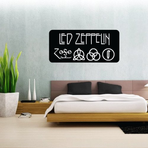 Heavy Metal LED Zeppelin Zoso Wall Graphic Decal Sticker 63,5 x 27,9 cm