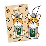 Woofy Hanging Car Air Freshener - Adorable Doggy Design - Long Lasting Scents [ Pack of 3 Morning Coffee ]