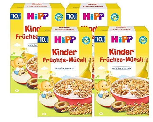 Hipp Kinder Früchte-Müesli, ab dem 10. Monat, 4er (4 x 200g)
