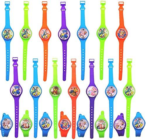 JZK 40 x Armbanduhr Mitgebsel Kinder Armband Spielzeugfür Jungs und Mädchen 3 - 6 Jahre alt, Kunststoff Uhr Spielzeug für Kinder Geburtstags Geschenk Mitbringsel Party Spielzeug Füllstoffe