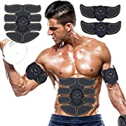 MATEHOM ABS Trainer Muscle Stimulator, Portable Abdominal Muscle Toning Belt Home Fitness Training Equipment, Simple Operation for Abdomen/Arm/Leg Training Men and Women 6 Modes & 10 Levels