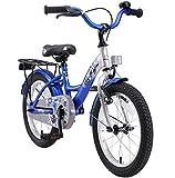 BIKESTAR Vélo Enfant pour Garcons et Filles de 4-5 Ans | Bicyclette Enfant 16 Pouces Classique avec Freins | Argent & Bleu