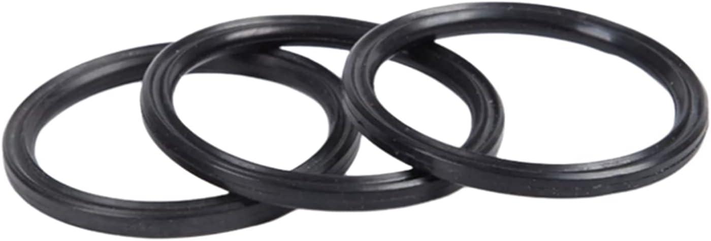 2 Piezas AS122-28.24x2.62mm Sellos de Anillo cuádruple NBR, Piezas de Sellos hidráulicos de Anillo en X de Caucho de nitrilo