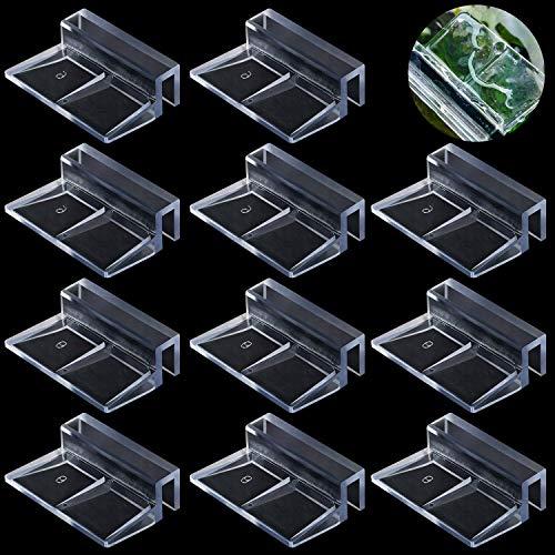 WJMY Glasabdeckungs-Clips für Aquarien Abdeckung 20 Stück Aquarium Acryl Clips 6mm und 8mm Universale Halterungen für Randlose Aquarien