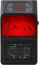 GHWWW Mini Calentador Eléctrico Calentadores de Llama de Salida de Pared de 400 W Calentador de Aire de Enchufe de la UE PTC Estufa de Calefacción de Cerámica Pantalla LED Hogar