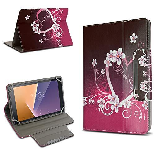 Vodafone Tab Prime 6 Hochwertige Tablet-Schutz-Hülle-Tasche Universal mit Standfunktion kombiniert Schutz & Design in verschiedenen Motiven aus hochwertigem Kunstleder Cover Hülle Universal Farbauswahl