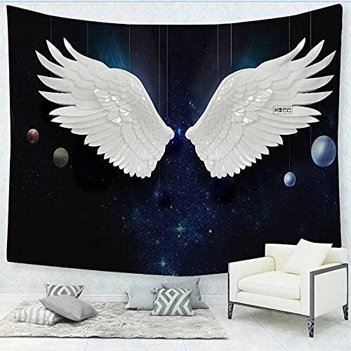 Fantasía alas misteriosas tapiz de plumas tapiz de pared para el hogar tapiz de pared de poliéster tapiz de pared A3 130x150cm