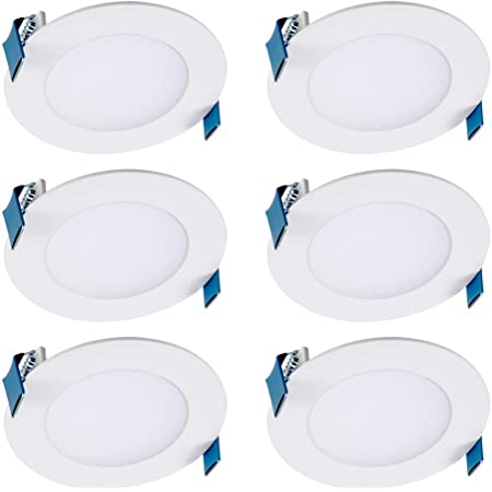 White Color Selectable HALO HLA 4 in HLA406FL9FS1EMWR Canless Recessed Narrow Beam Adjustable Gimbal Trim Integrated LED Kit 2700K-5000K