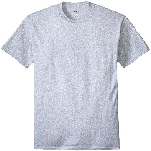 Hanes Big Herren T-Shirt Beefy-t Tall - grau - Large Hoch