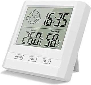 Jsmhh Digital Cubierta metereológi con la exhibición del Tiempo, Accurate Monitor de Humedad Relativa y Temperatura Medido...