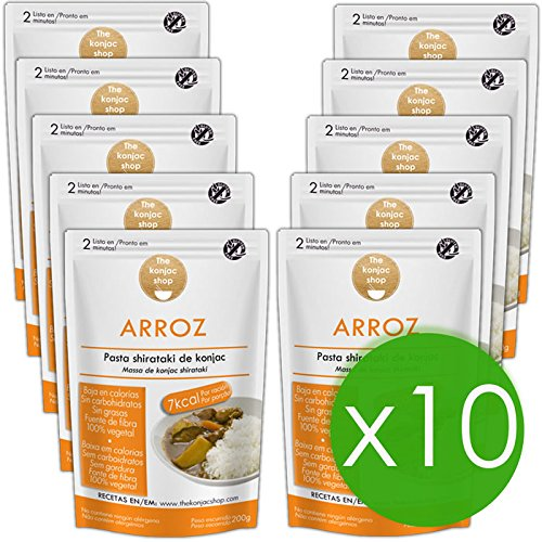 The Konjac Shop - Arroz Shirataki, 10 unidades