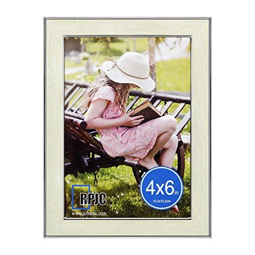 RPJC 10x15 cm (4x6) Fotolijst van metaal (staal) en High Definition glas zonder passe-partout voor wandmontage fotolijst zilver