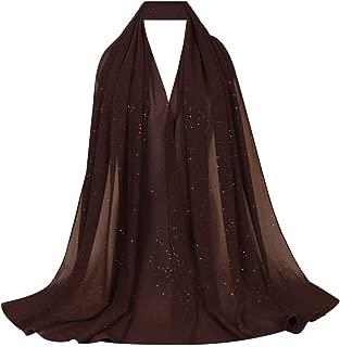 Women Solid Color Muslim Headscarf Turban Lightweight Jersey Hijab Scarf Wrap