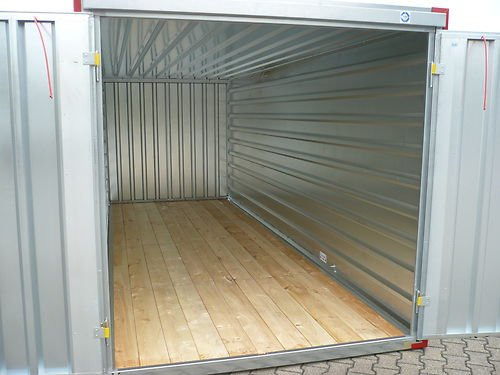 Container Baucontainer Lagercontainer Blechcontainer Gerätecontainer Materialcontainer 2,25m (XS)