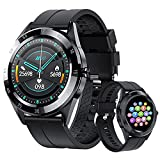 Smart Watch Fitness Tracker for Android Phones and iOS Phones - Touch Screen IP67 Waterproof Sports Activity Fitness Tracker with Heart Rate Sleep Monitor Message Reminder for Men Women (Black)
