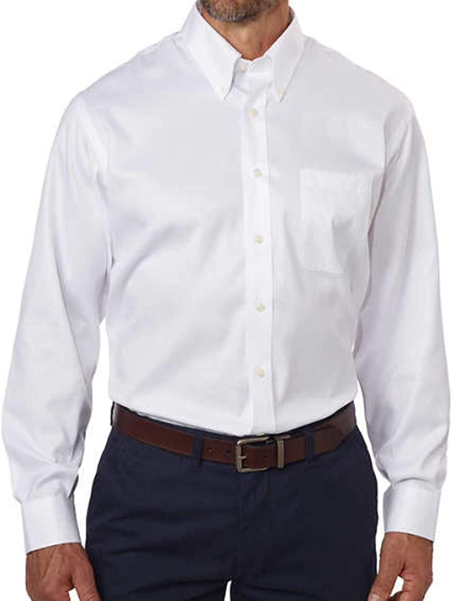 Chaps Dress Shirt Mens Regular-Fit Long Sleeves Button Down Collar