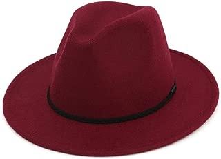 Bin Zhang Women Men Wool Fedora Hat With Cloche Ribbon Gentleman Elegant Lady Winter Autumn Wide Brim Jazz Church Godfather Sombrero Cap