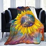 PARROT BEEK Sunflower Ultra-Soft Micro Fleece Blanket Cozy Warm Throw Blanket Suitable for All Living Rooms/Bedrooms 50'x40'