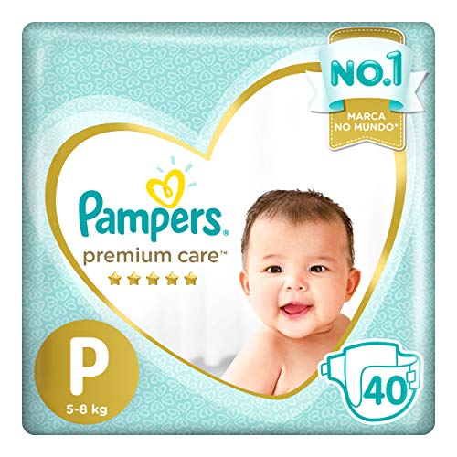 Fraldas Pampers Premium Care P 40 Unidades, Pampers