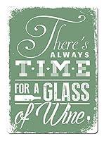 常にワインの時間、ブリキのサインヴィンテージ面白い生き物鉄の絵画金属板ノベルティ