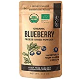 Numami Wild Blueberry Powder Organic, for Smoothies, Baking and Flavoring, Rich in Antioxydants and Vitamin C, Organic Blueberries are Handpicked from Nordic Forests for Freeze Dried Blueberry Powder