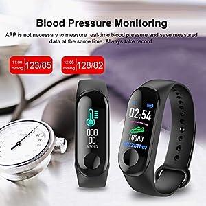 GULEHAY M3 Smart Fitness Tracker, Reloj de Actividad Impermeable con Pantalla a Color Monitor de Ritmo cardíaco Presión Arterial Sleep Monitor Contador de calorías para niños, Mujeres, Hombres