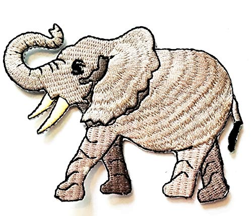 Check Out This Nipitshop Patches African Elephant Novelty Animals Cartoon Children Kids Embroidered ...