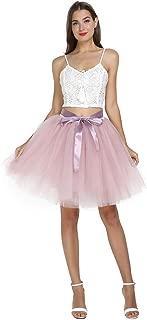 Women's Tulle Skirt A Line Midi Knee Ballet Tutu for Prom Party