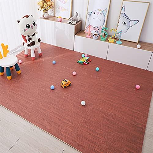 LNSGA Baby Espuma Puzzle Play Gym Mat Niños Juguetes Juguetes Playmat Alfombra para Niños Entrotamiento De Madera Crawling Ejercicio Suave Alfombras Espeseñas (Color : Brown)