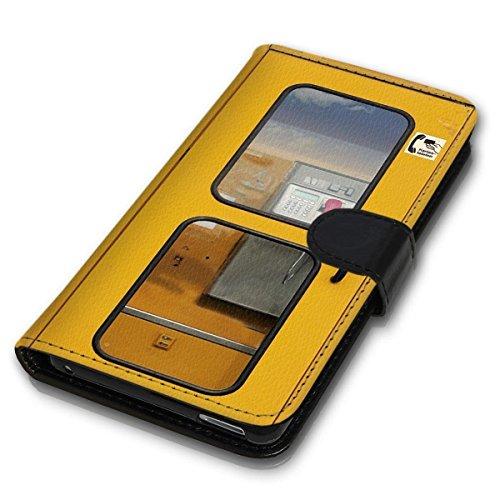 wicostar Book Style Handy Tasche - Design MV-394 - kompatibel mit Huawei Ascend Y550 - Cover Hülle Schutz Hülle Etui Schutzhülle