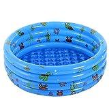 KRXLL Swimming Paddling Pool Aquarium Aufblasbarer Pool Verdickter Haushalt Baby Wear-resistent Dick Marine Ball Pool-Blau_80