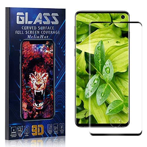 MelinHot Displayschutzfolie für Galaxy S10, Anti Fingerabdruck, Ultra Dünn Blasenfrei Schutzfolie aus Gehärtetem Glas für Samsung Galaxy S10, 3 Stück