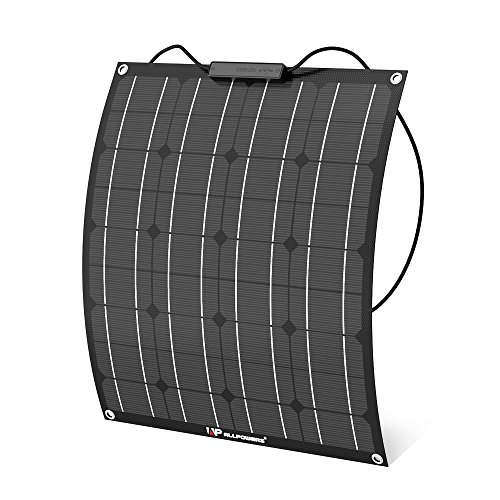 ALLPOWERS 50W 18V 12V Panel Solar Modulo Solar (con la Capa de ETFE, Conectadores MC4) Cargador Solar Flexible para RV, Barco, Cabina, Tienda, Coche, Acoplado