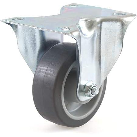 Bockrolle 80mm grau Vollgummi 60kg Transportrolle       spurlos Gummirad Rolle