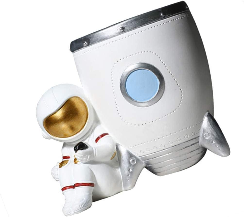 BESPORTBLE Max 86% OFF Astronaut Figurine Pen ResinSpaceman Holder Product Model